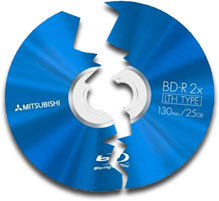 Broken Blu-ray disc