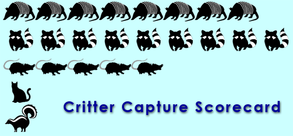 Critter Capture Scorecard graphic