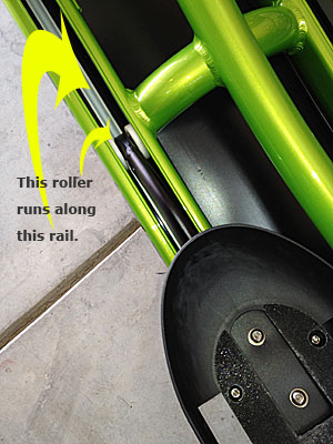 Photo - Roller and rail