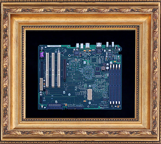 Framed Mac G4 Motherboard