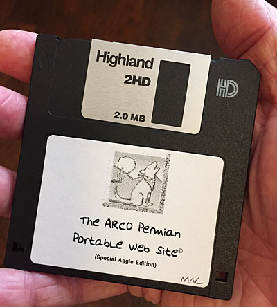 Photo of ARCO Permian Portable Web Site floppy disk
