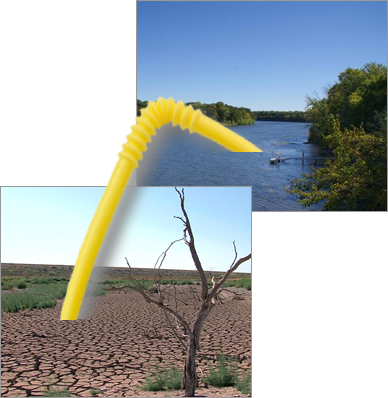 Giant Straw in the River