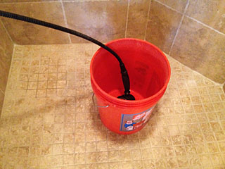 Photo of bucket in shower