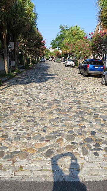 A cobblestoned street