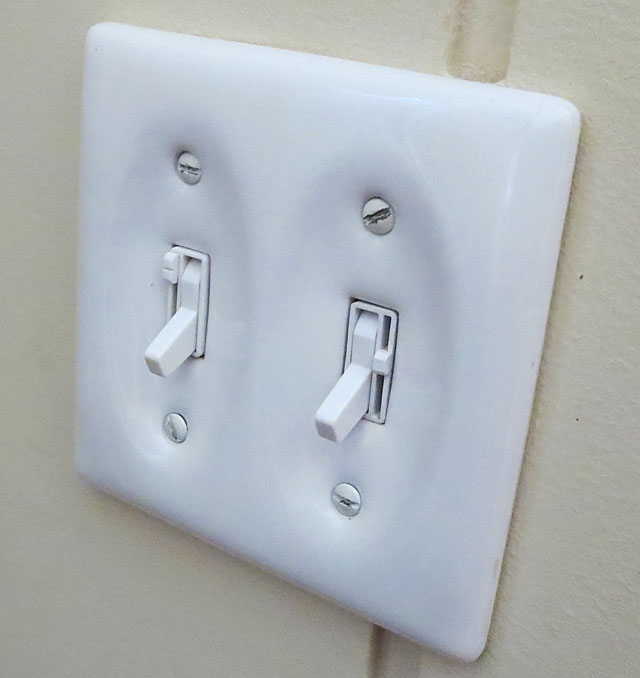 Light switches with dimmer sliders