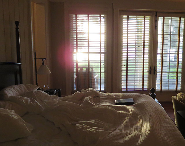Morning sun through the shutters