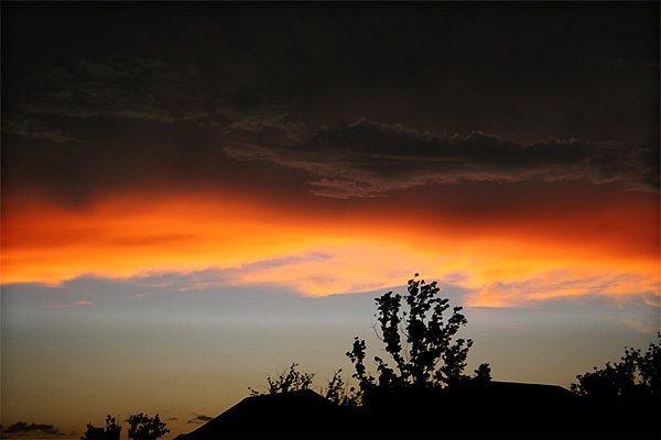 Photo of sunset and clouds