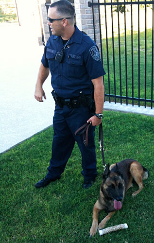 Photo - Sid, the Police Dog