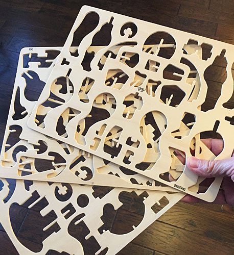 Triceratops puzzle pieces cutouts