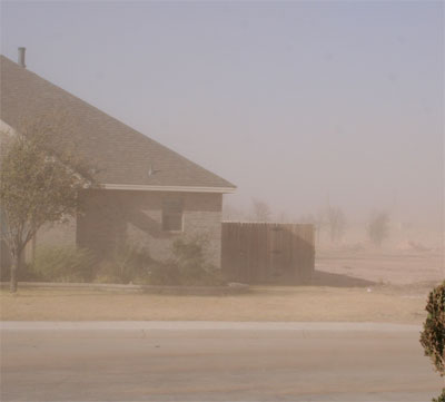 Photo of blowing dust