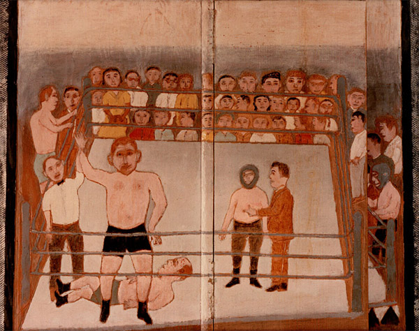 Photo - 'Wrestling' - Painting by George W White