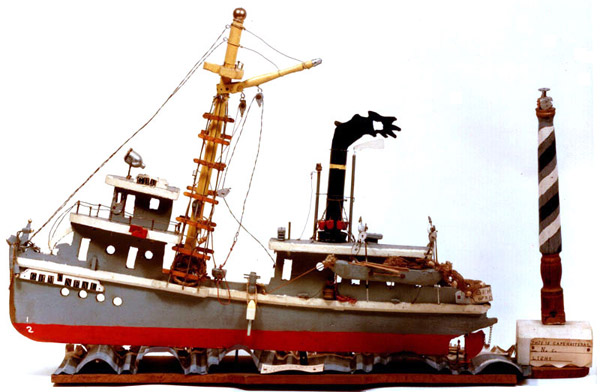 Photo - 'G.H. McNEAL THIS IS FISH BOAT BACK IN YEAR 1929 RUN BY StEAM' - Sculpture by Leslie J. Payne