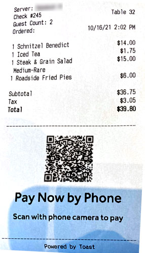 Photo - The bill for our brunch
