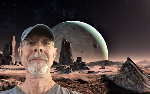 Me on another planet