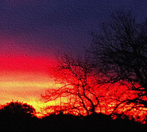 Photo - heavily photoshopped sunrise
