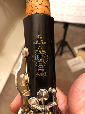 Closeup photo of part of my clarinet
