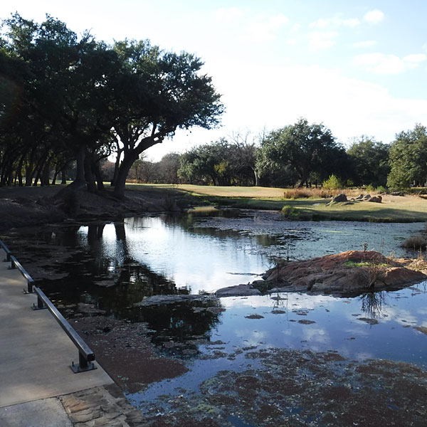 Photo - One of the two crossings of Pecan Creek on Apple Rock #16