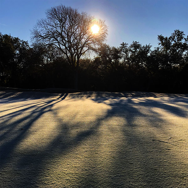 Photo - A view of the Ram Rock #16 fairway on a frosty morning