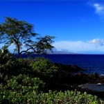 View of Molokini from Wailea, Maui, Hawaii