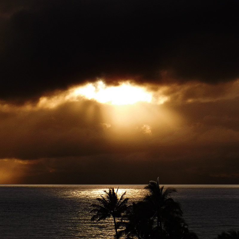 Photo - Sunset as viewed on Maui, Hawaii
