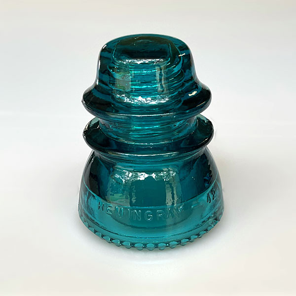 Photo - Blue glass insulator