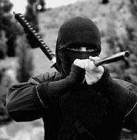Photo - Ninja with a blowgun