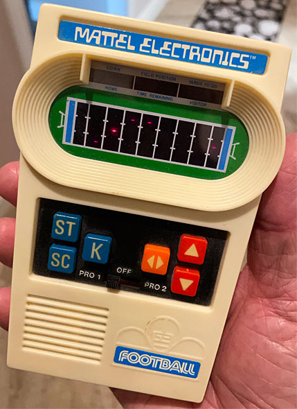 Photo - Mattel Electronics handheld football game from 1977