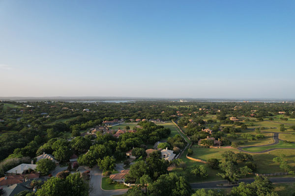 Aerial photo of a portion of Horseshoe Bay, Texas