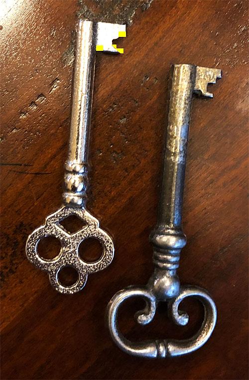 Skeleton keys before modification