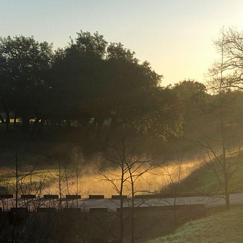 Photo - Steam Fog on the surface of Pecan Creek (Horseshoe Bay, Texas)