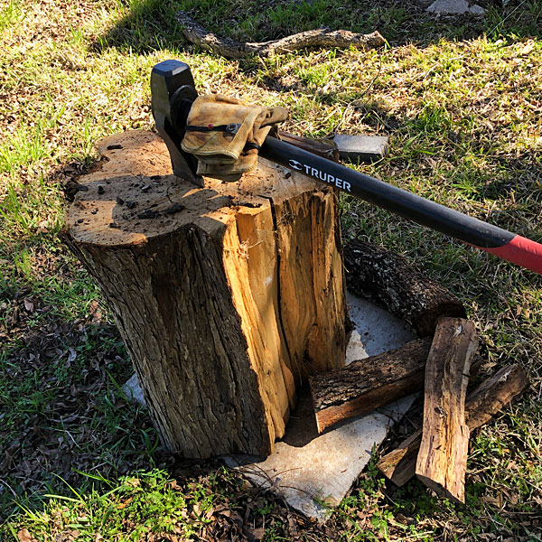 Photo - My chopping block and maul